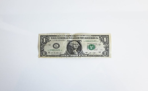 One US dollar bill