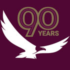 Still image of Neighborhood Credit Union Eagle and 90th birthday badge.