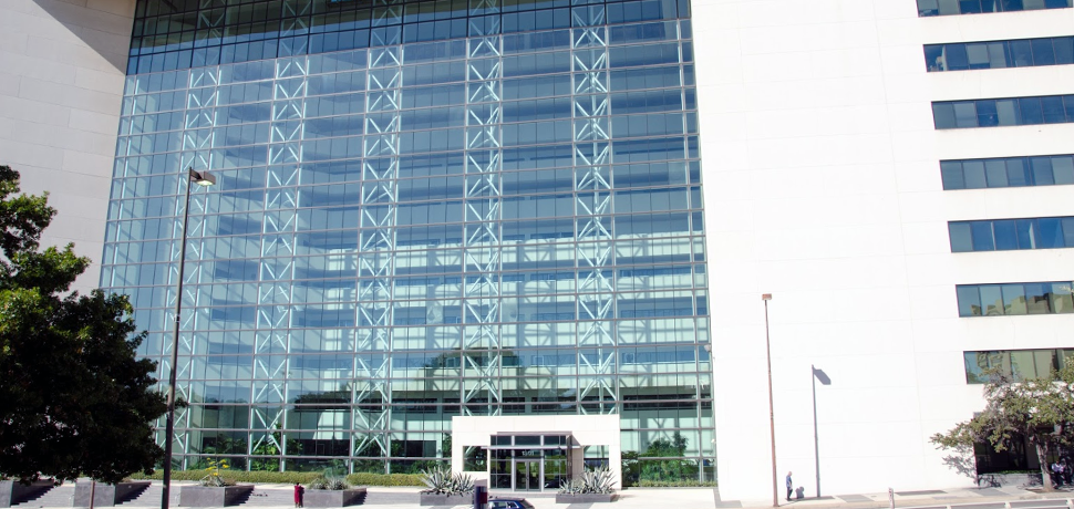 Large building with glass windows
