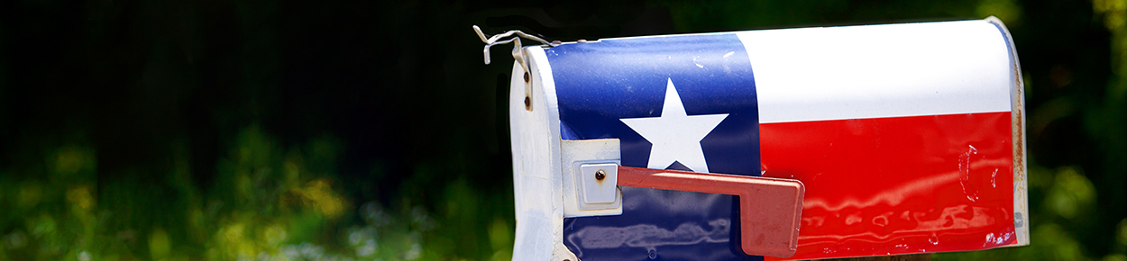 Texas flag on mail box