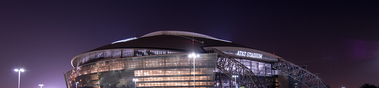 AT&T Stadium at night